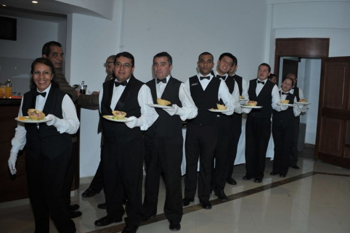 A group of banquet servers