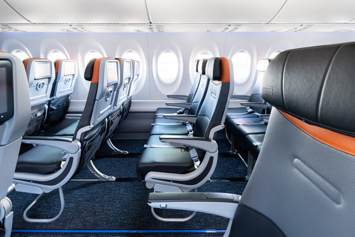 JetBlue Airbus A220-300 interior