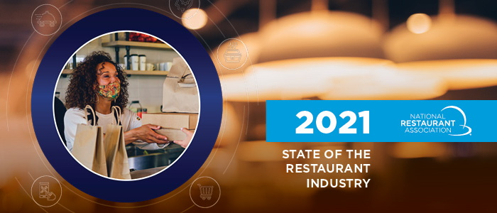 Report cover - 2021 State of the Restaurant Industry