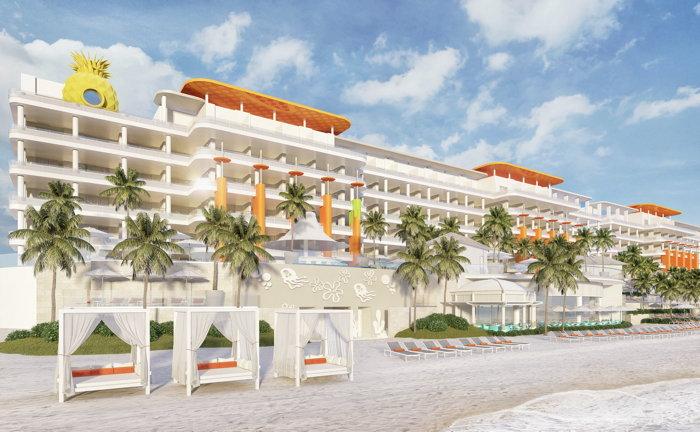 Rendering of the Nickelodeon Hotels & Resorts Riviera Maya