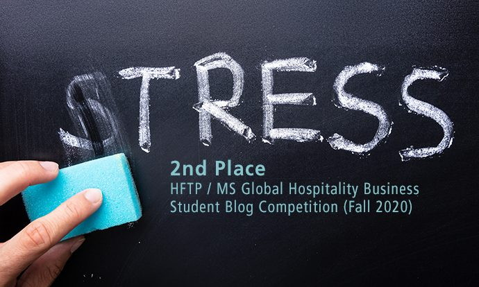 A chalk board with the word 'Stress' - Source HFTP