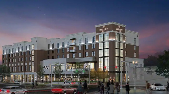 Rendering of the Valley Hotel Homewood Birmingham, Curio Collection by Hilton