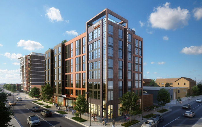 Rendering of the Cambria Hotel Washington D.C. Capitol Riverfront Hotel