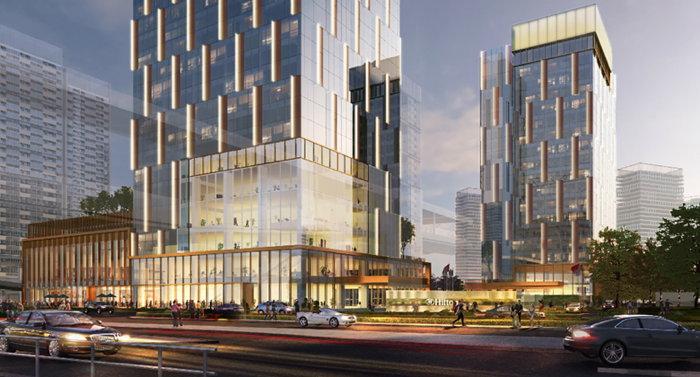 Rendering of the Hilton Shenzhen World Exhibition & Convention Center Hotel