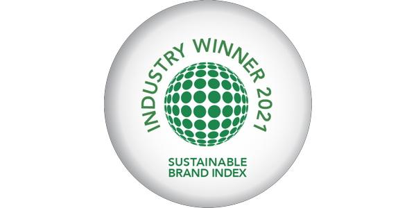 Sustainable Brand Index winner badge