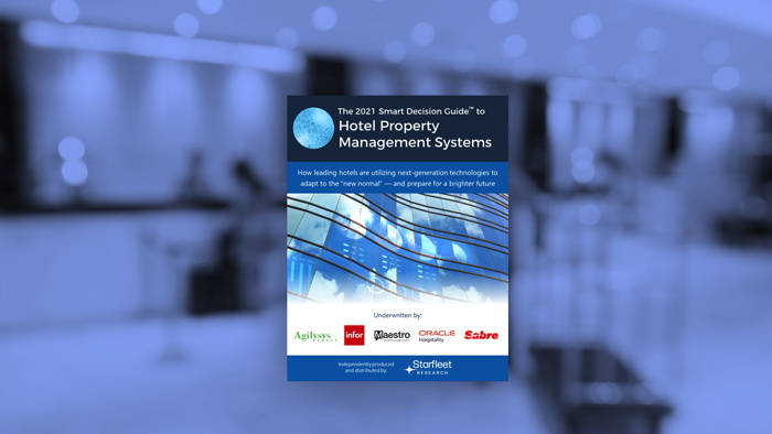 2021 Smart Decision Guide to Hotel Property Management Systems - Cover