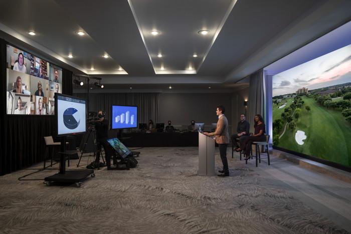 A virtual meeting at a Four Seasons Hotel