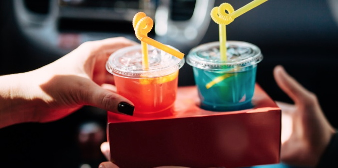 Two beverages in take-out cups - Source National Restaurant Association