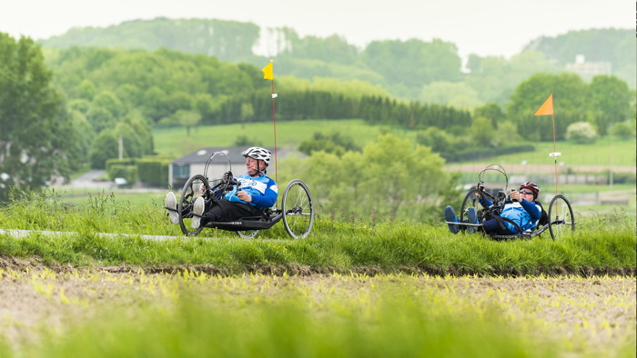 Two riders on recumbent biked - Source UNWTO