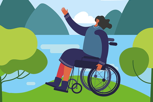 Illustration - Person in a wheelchair - Source WTTC