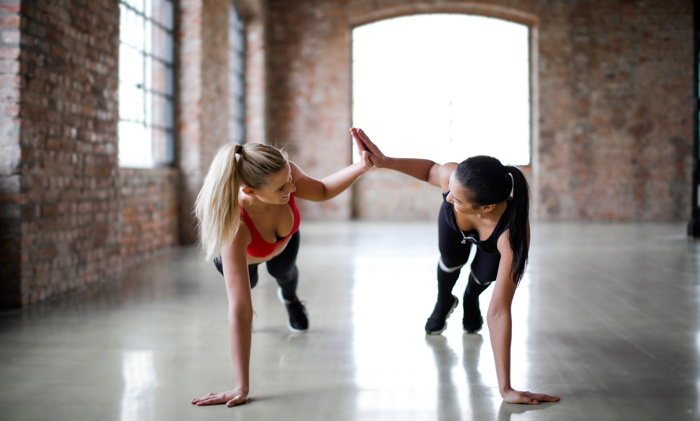 Two people exercising - Photo credit:  Photo by Andrea Piacquadio from Pexels