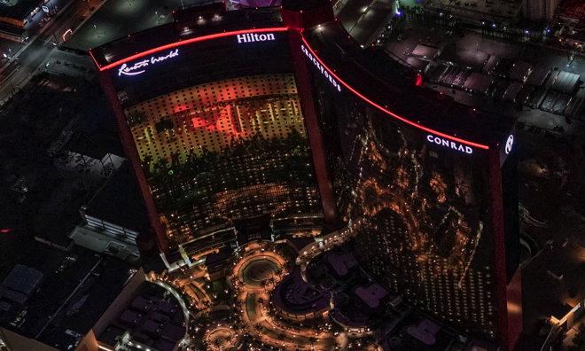 Resorts World Las Vegas - Aerial view