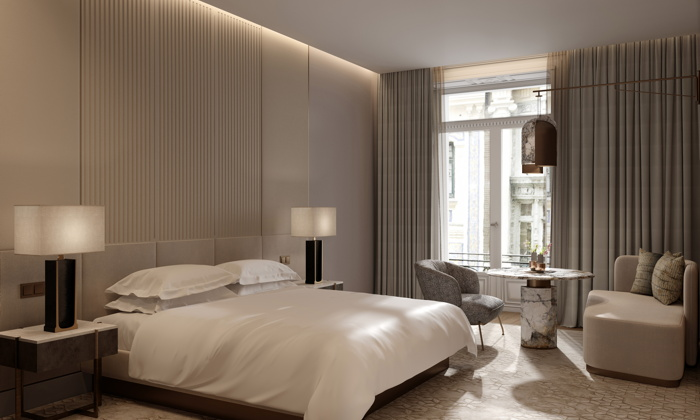 Guestroom at the JW Marriott Madrid hotel