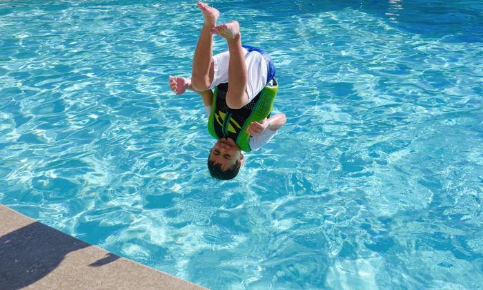 Spring Break Pool Flips - Unsplash