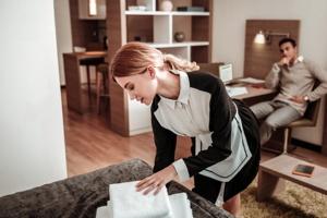 Female Hotel Housekeeper