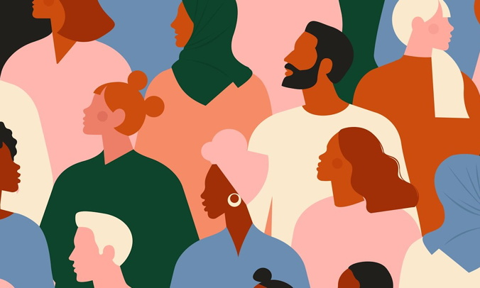 Illustration of people with different ethnic backgrounds - Source Vizergy
