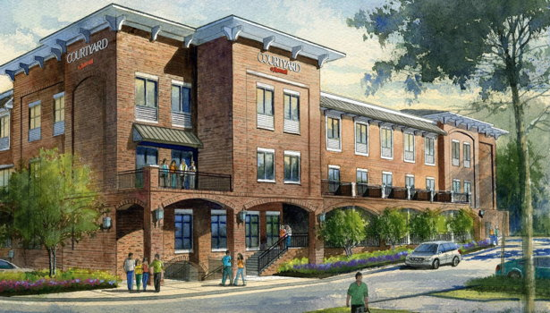 Rendering of the Courtyard by Marriott Atlanta Duluth Downtown