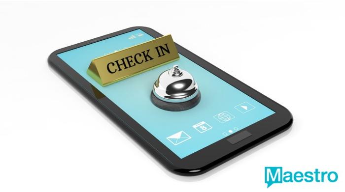 Graphic - mobile check in concept - Source Maestro PMS