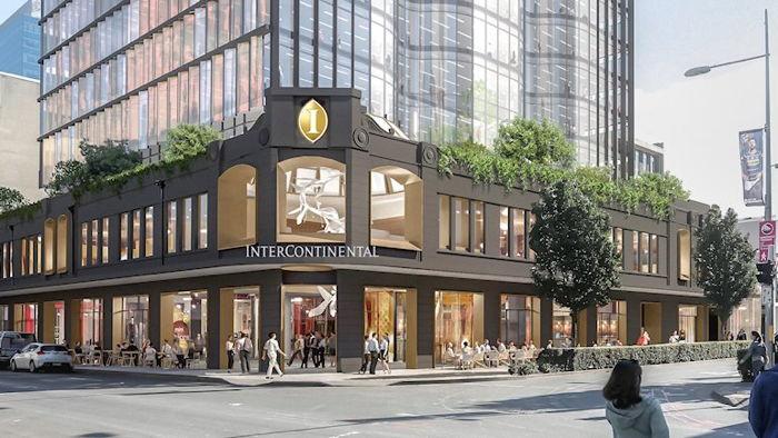 Rendering of the InterContinental Parramatta Hotel in Sydney