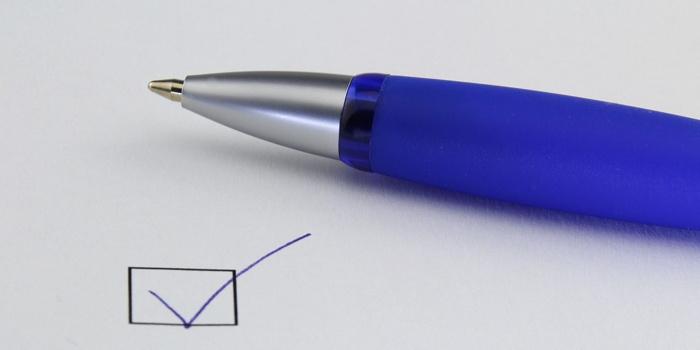 A pen and check box - Source HSMAI