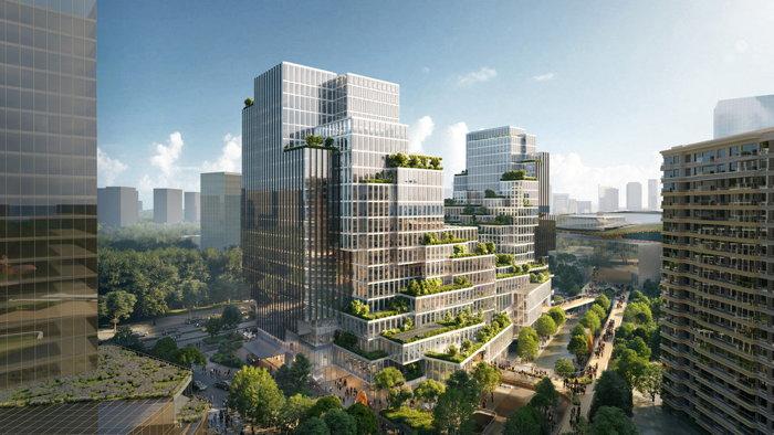 Rendering of the Rosewood Hangzhou Hotel