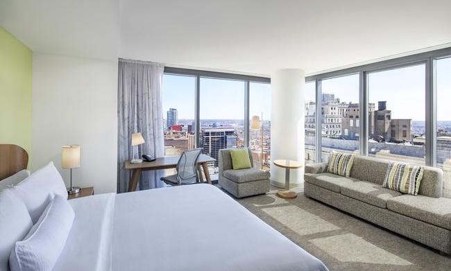 Executive King Bedroom at the Element Philadelphia Hotel