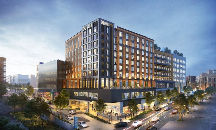 Rendering of the Bellyard, West Midtown Atlanta, a Tribute Portfolio Hotel