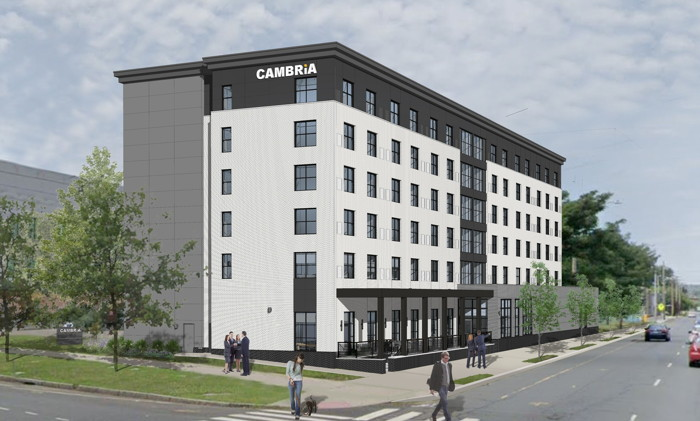Rendering of the Cambria Hotel New Haven, Connecticut