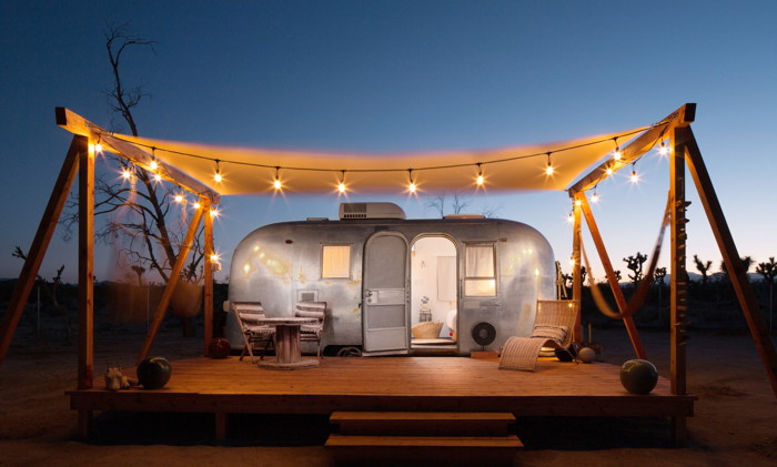 An Airstream Airbnb rental property - Image source Airbnb