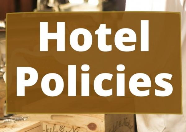 A 'Hotel Policies banner' - Source David Lund