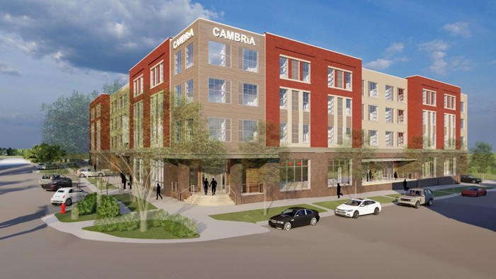 Rendering of the Cambria Hotel Columbia Downtown