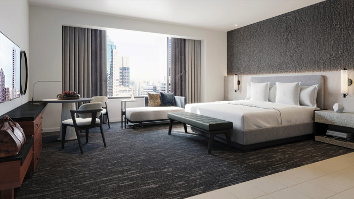 Guestroom at the Four Seasons Hotel Denver