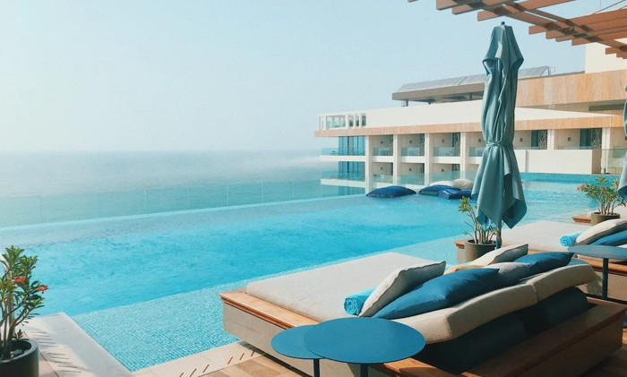A hotel pool - Source OTA Insights