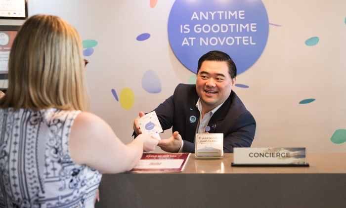 A concierge at a Novotel hotel