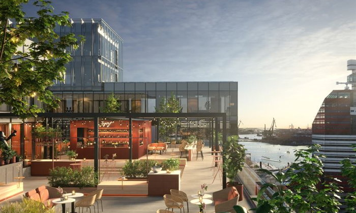 Rendering of the Scandic Gothenburg Central
