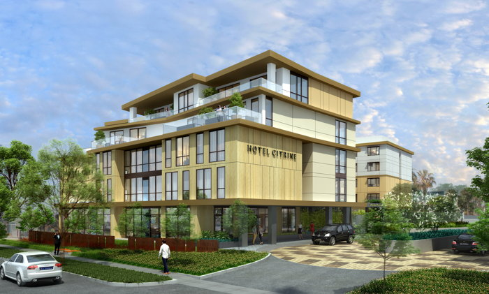 Rendering of the Hotel Citrine