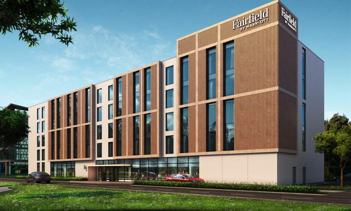 Rendering of the Fairfield by Marriott prototype hotel