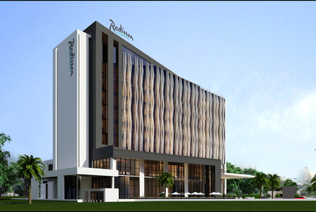Rendering of the Radisson Hotel Djibouti