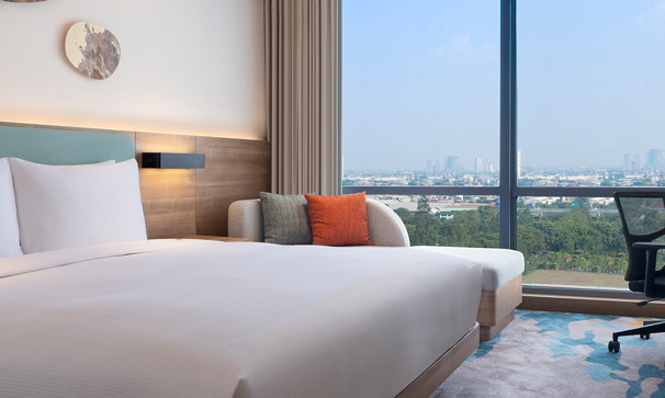 Guestroom at the Hilton Garden Inn Jakarta Taman Palem