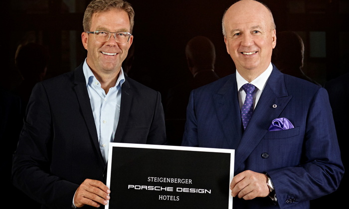 Image from Steigenberger Porsche Design Hotels signing ceremony