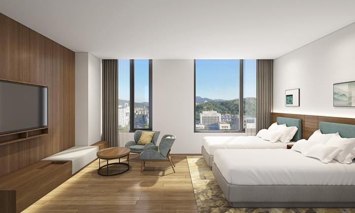 Guestroom at the Hilton Garden Inn Seoul Gangnam