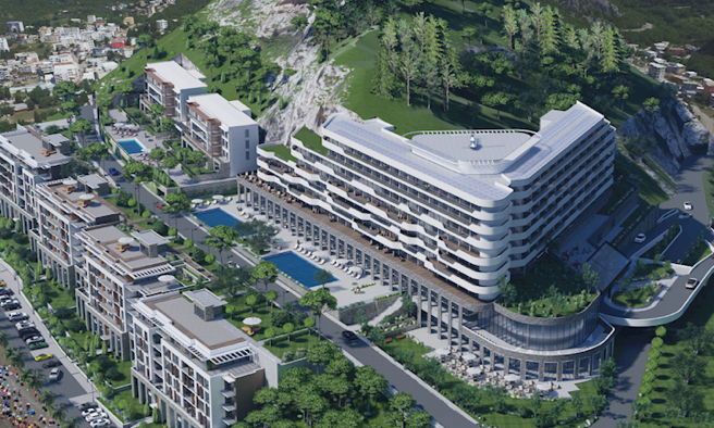 InterContinental Resort Amma, Canj - Montenegro - Aerial view