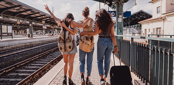 Travelers at a train station - Source SiteMinder