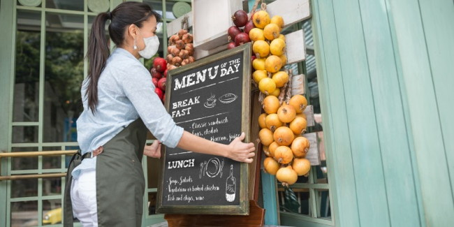 A restaurant menu board - Source National Restaurant Association