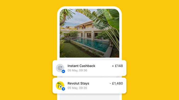 Screenshot - Revolut's Stays App - Source Revolut
