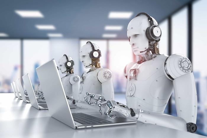 Robots using computers - Source Doug Kennedy