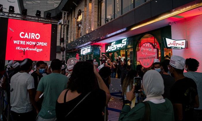Krispy Kreme store in Cairo