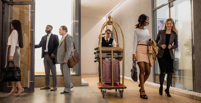 A hotel lobby - Source - Hotelogix