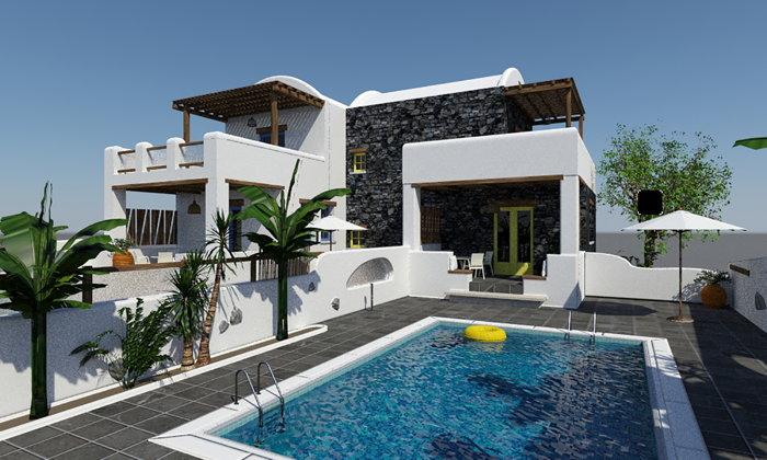 Villa at the Sea Breeze Santorini Beach Resort
