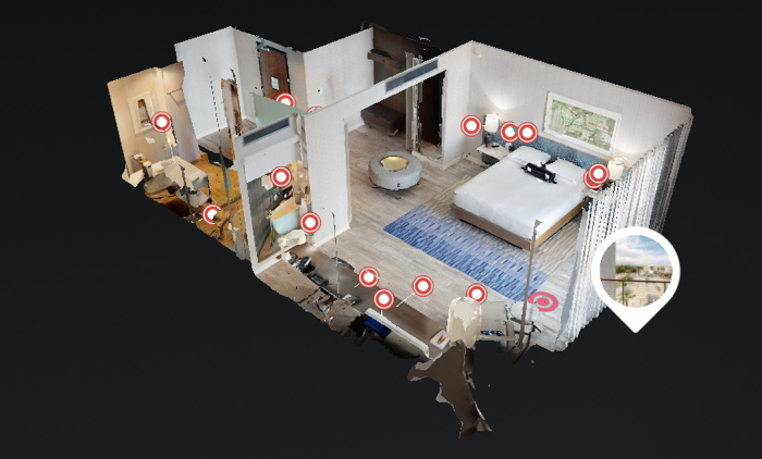 Dollhouse view of the IHG voice-controlled Smart Room